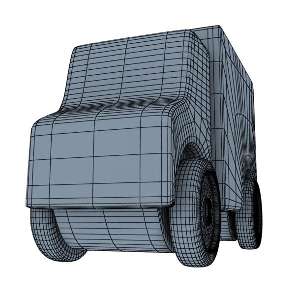 3d model of a wooden toy truck. 3d model 3ds max fbx obj 129575