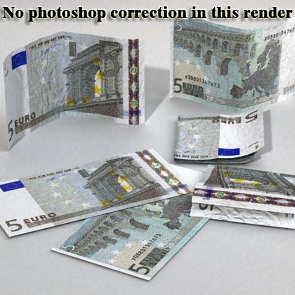 5 евро цаасан мөнгө 3d загвар 3ds max obj 129380