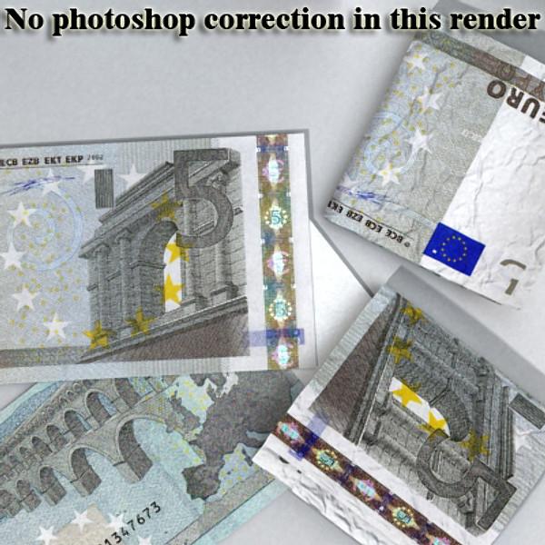 5 евро цаасан мөнгө 3d загвар 3ds max obj 129381