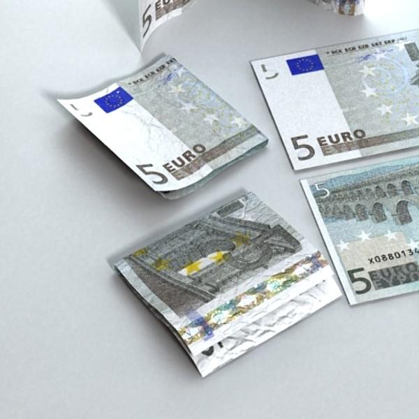 5 евро цаасан мөнгө 3d загвар 3ds max obj 129387