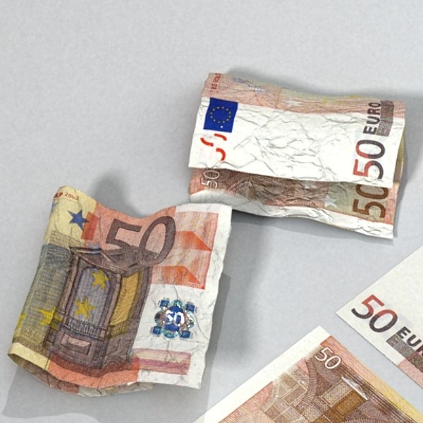 50 euro paper money 3d model 3ds max obj 129427