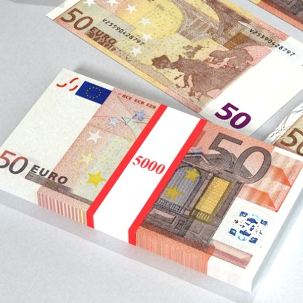 50 euro paper money 3d model 3ds max obj 129428