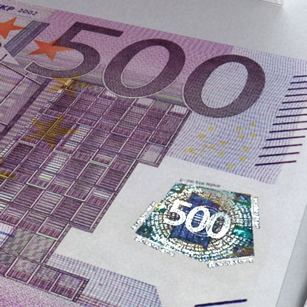 500 euros banknote 3d model 3ds max obj 129469