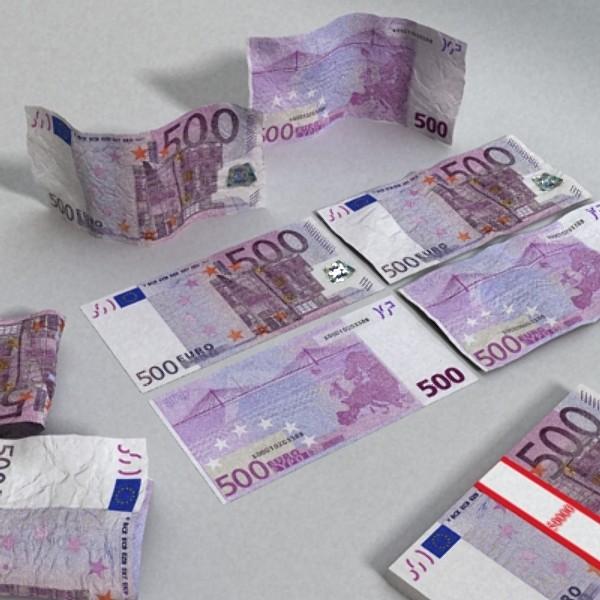 500 euros banknote 3d model 3ds max obj 129470