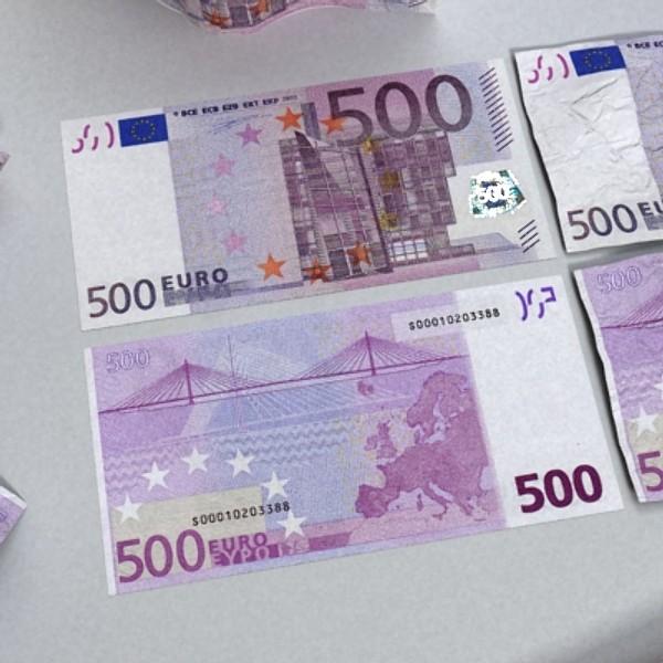 500 euros banknote 3d model 3ds max obj 129471