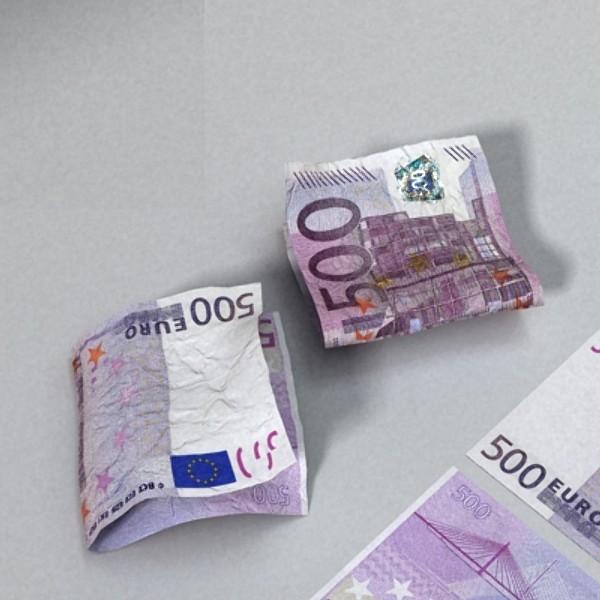 500 euros banknote 3d model 3ds max obj 129473