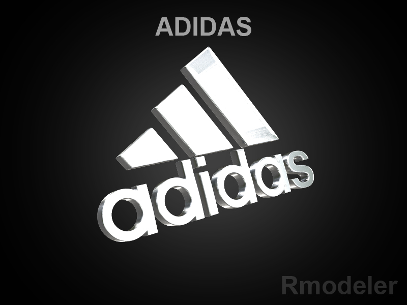 adidas 3d logotip 3d model dae ma mb obj 118754