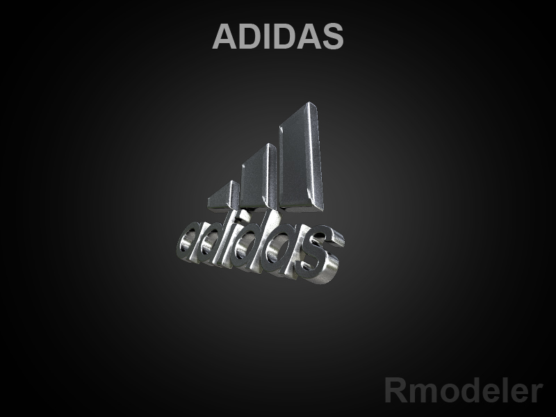 adidas 3d logo 3d model dae ma mb obj 118755