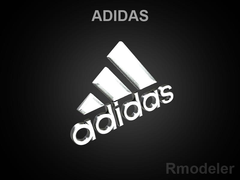 adidas 3d logo 3d model dae ma mb obj 118756