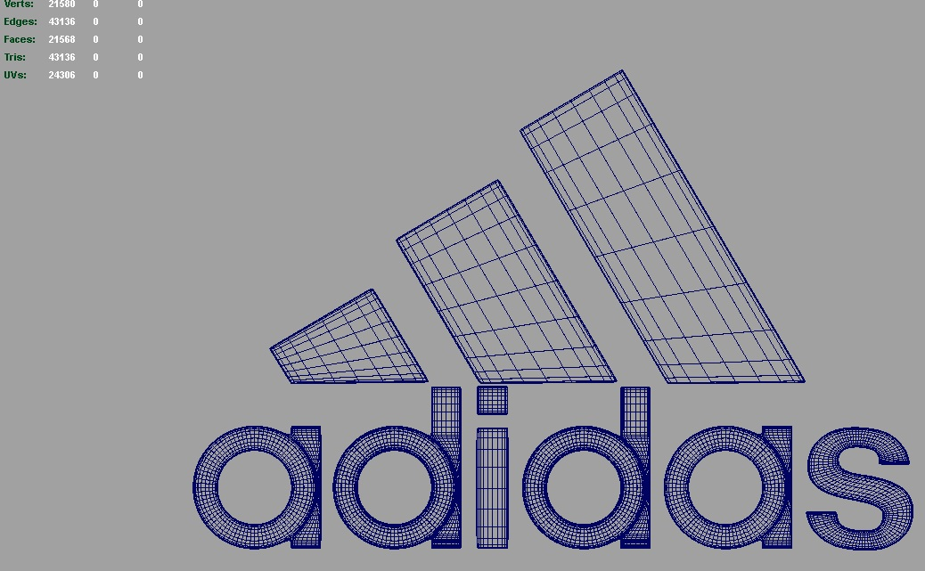 adidas 3d logo 3d model dae ma mb obj 118757