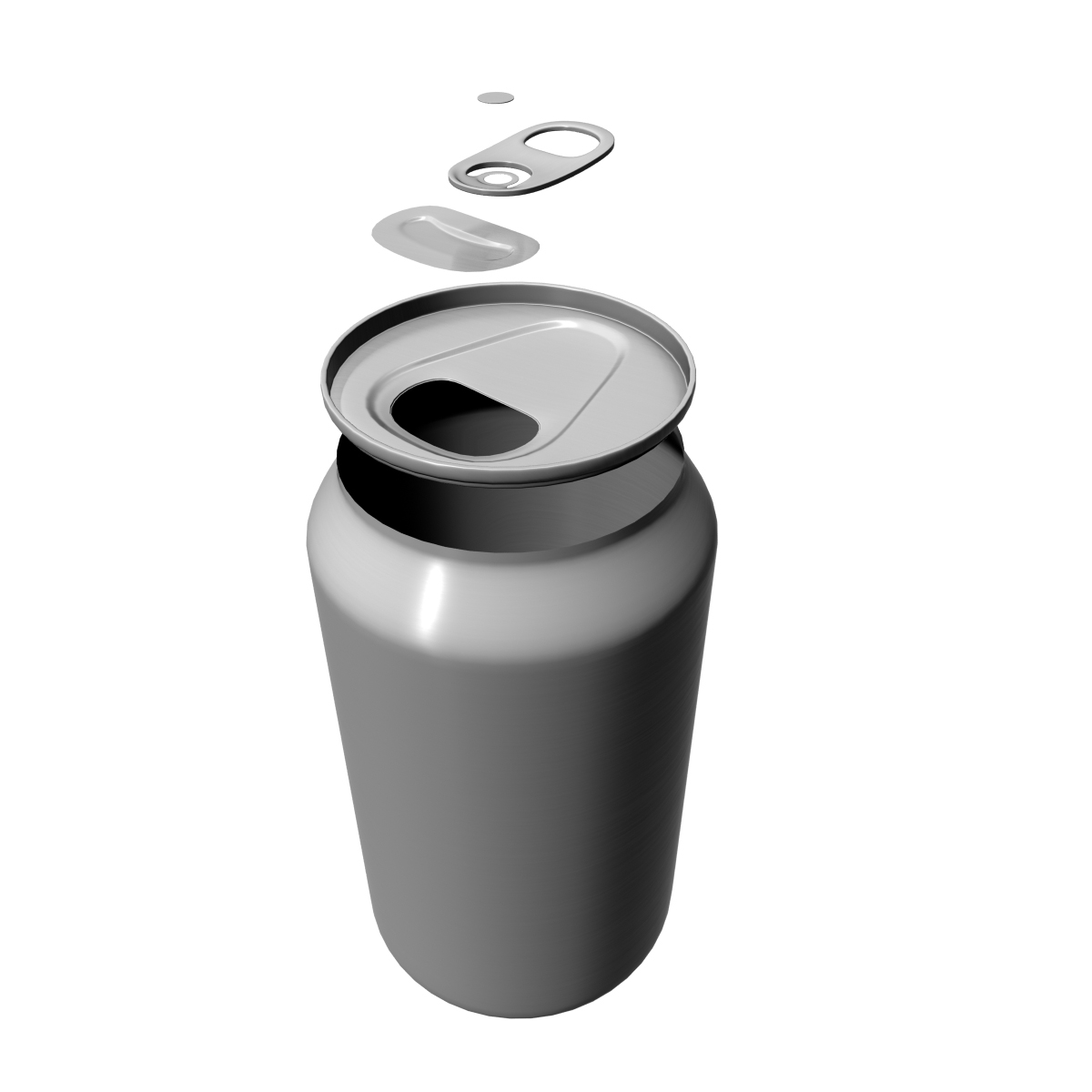 aluminium can 3d model ma mb 125931