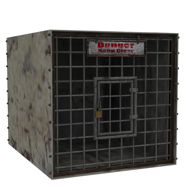 animal cage 3d model obj 158960