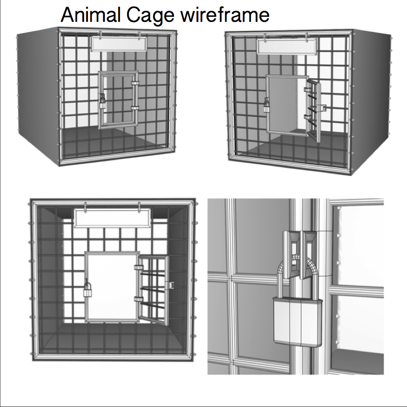 animal cage 3d model obj 158961