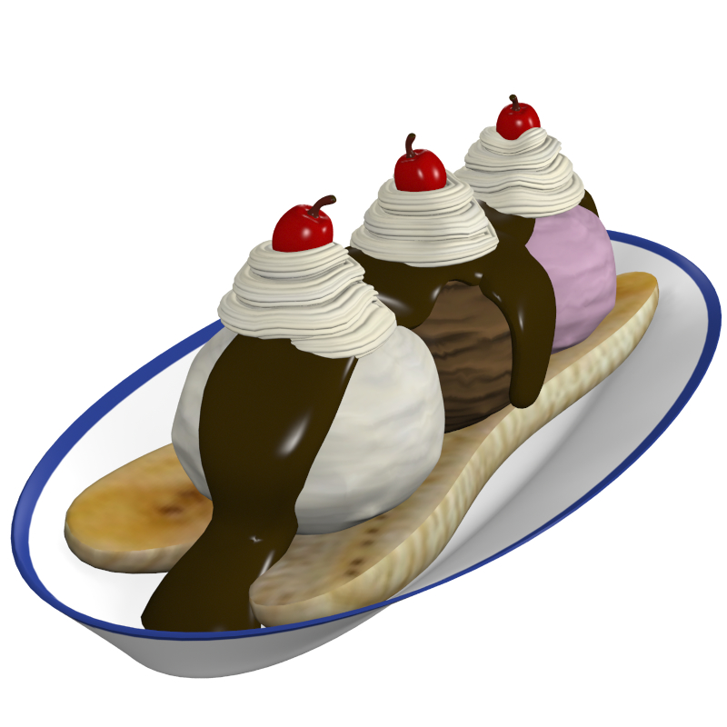 banana split 3d model obj 147753