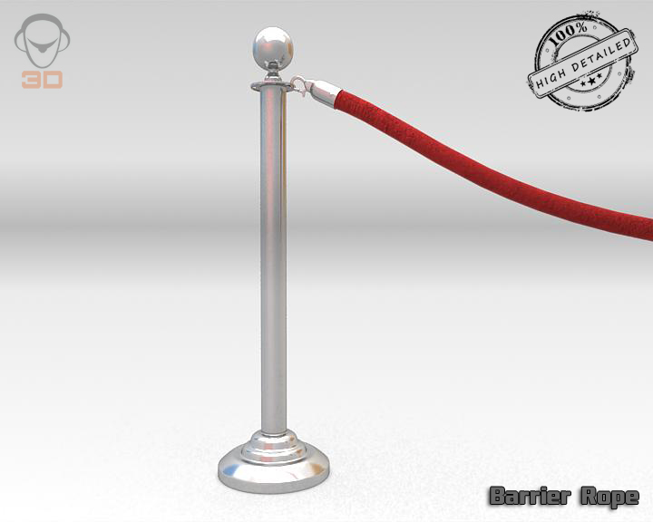 barrier rope 3d model 3ds max fbx obj 129086