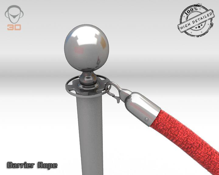 barrier rope 3d model 3ds max fbx obj 129087