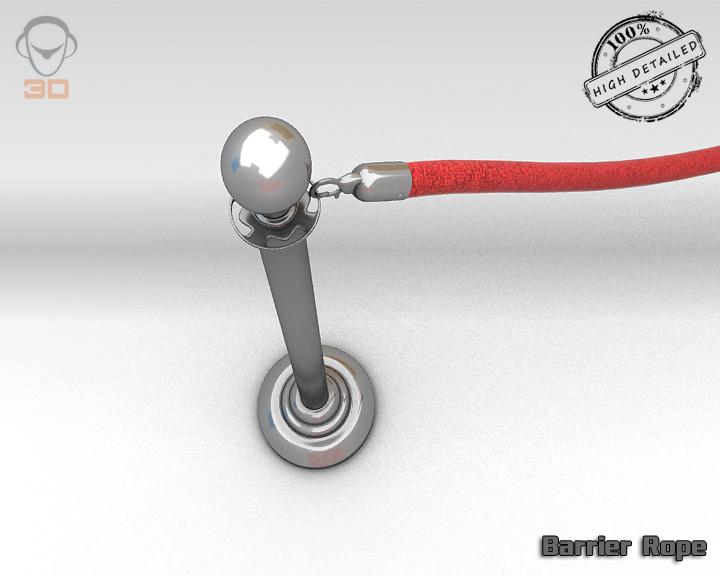 barrier rope 3d model 3ds max fbx obj 129088