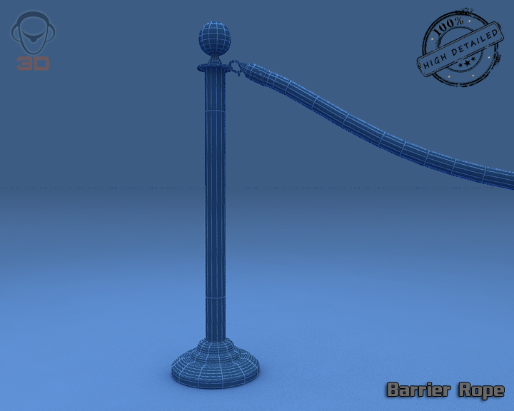 barrier rope 3d model 3ds max fbx obj 129090