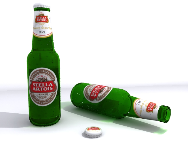 beer bottle 3d model max fbx 164256