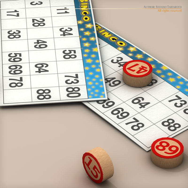 bingo game 3d model 3ds dxf fbx c4d obj 139212
