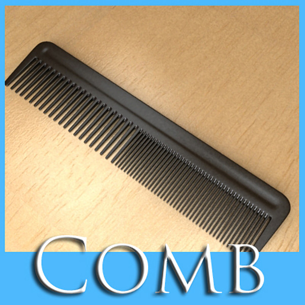 black comb high detail realistic 3d model 3ds max fbx 129716