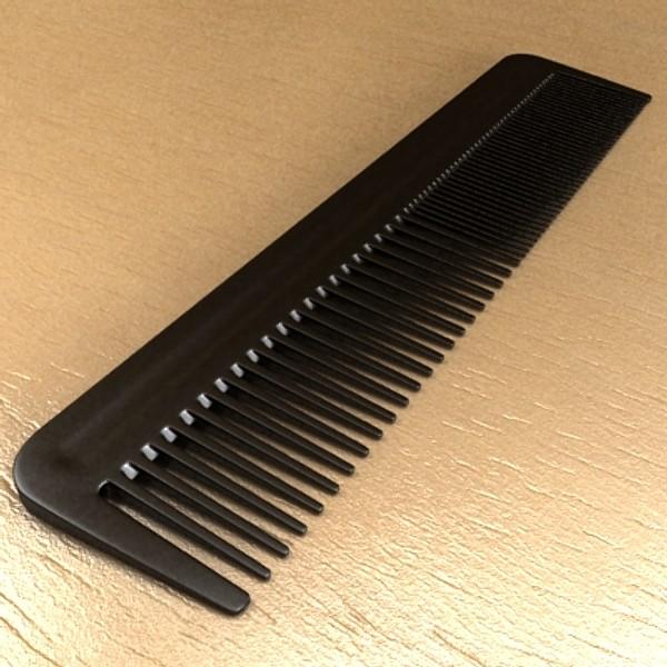 црна чешел висока детална реалистична 3d модел 3ds макс fbx 129717