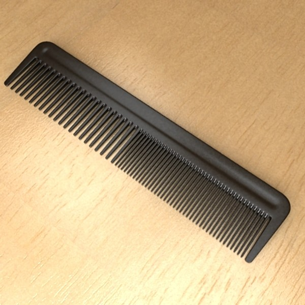 black comb high detail realistic 3d model 3ds max fbx 129718