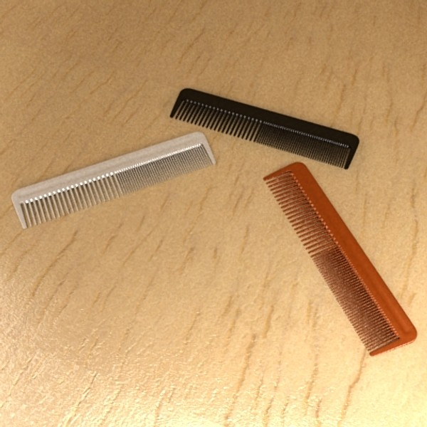 black comb high detail realistic 3d model 3ds max fbx 129722