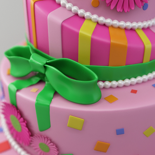 celebration cake 3d model 3ds max fbx obj 147554