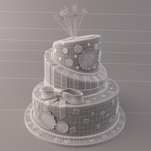 celebration cake 3d model 3ds max fbx obj 147555