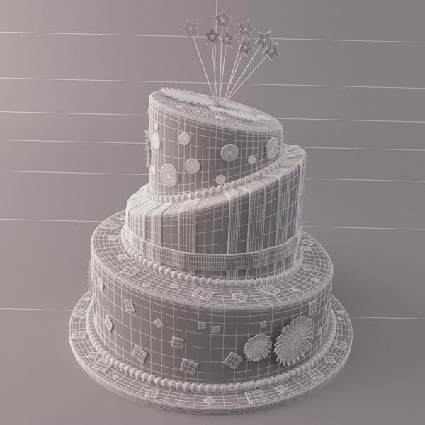 celebration cake 3d model 3ds max fbx obj 147556