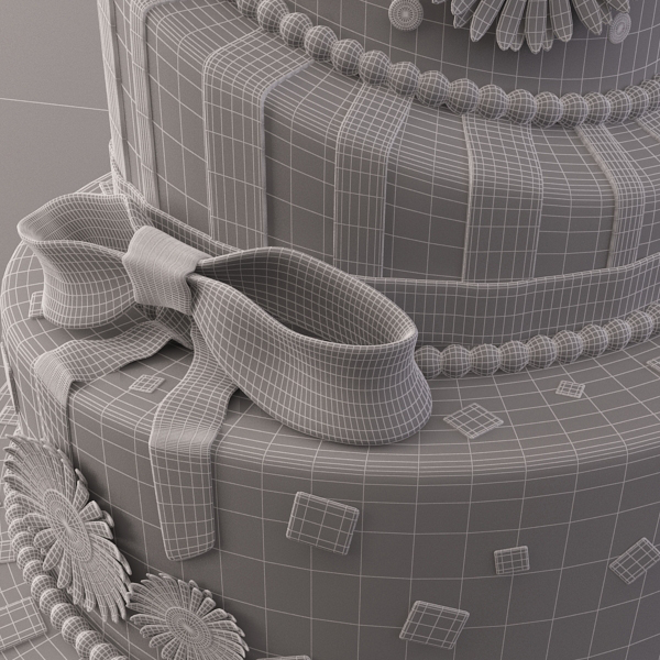 celebration cake 3d model 3ds max fbx obj 147557