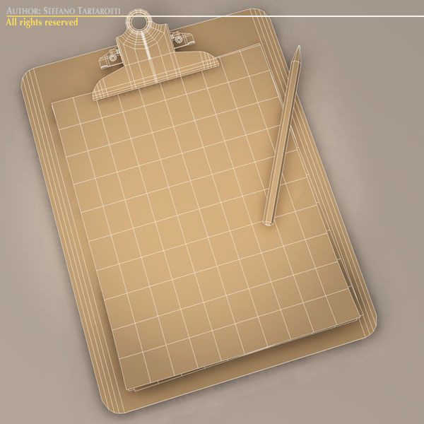 clipboard – #2 3d model 3ds dxf fbx c4d dae obj 118948