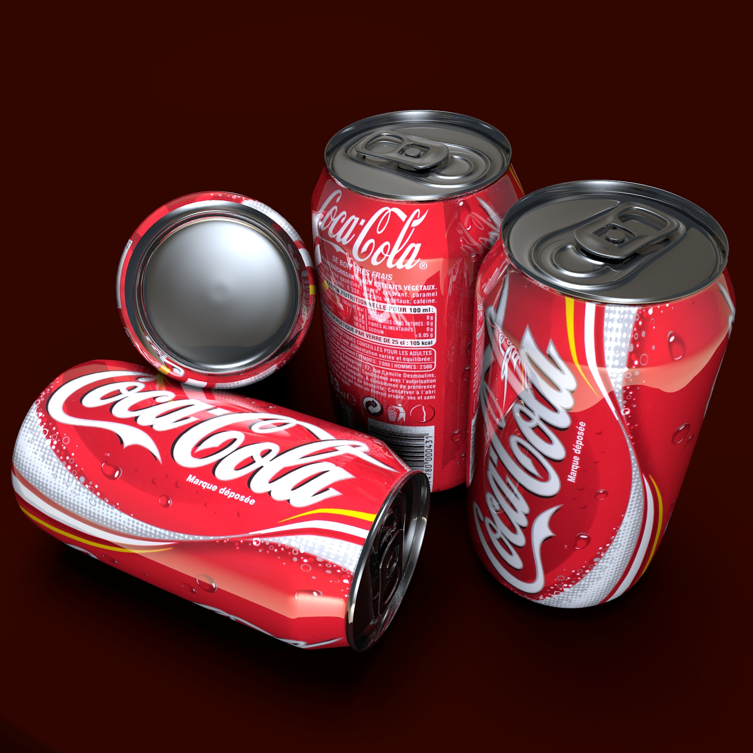coca cola can 3d model blend obj 117110