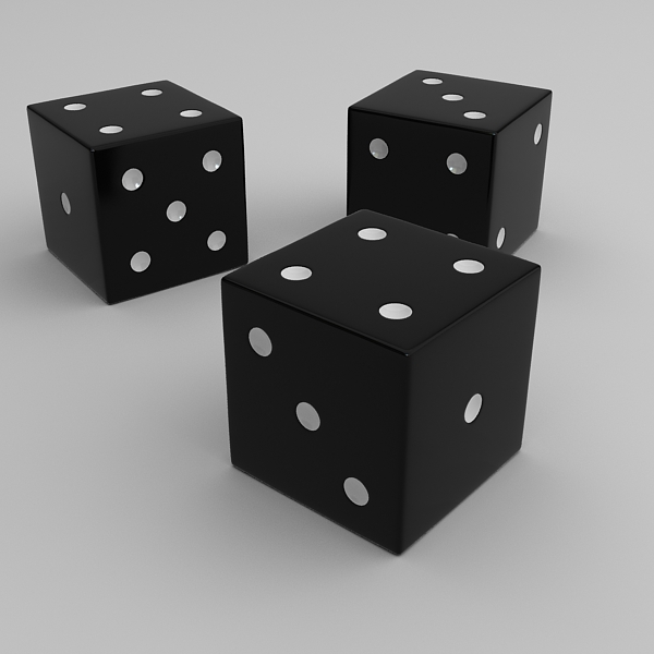 dice 3d model 3ds max fbx obj 120904