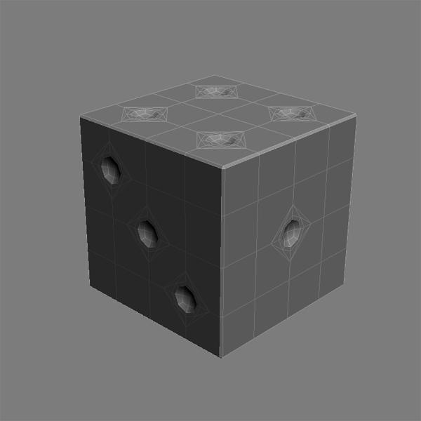dice 3d model 3ds max fbx obj 120906