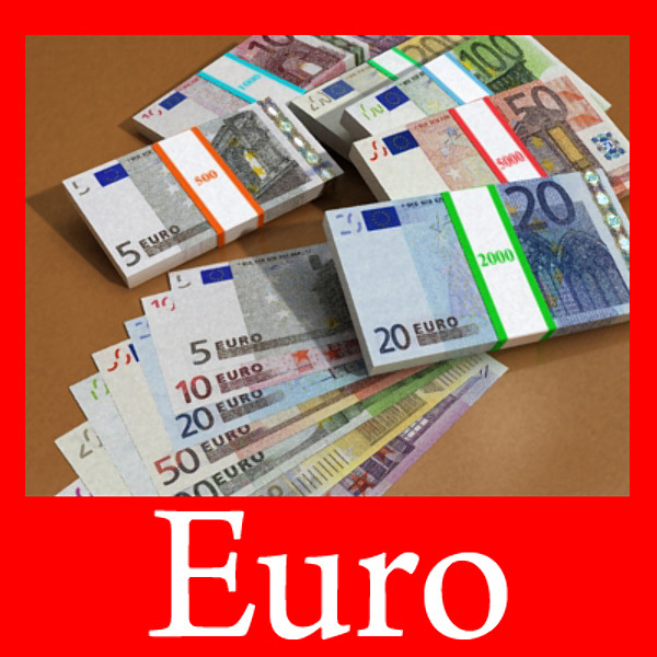 european paper money collection 3d model 3ds max obj 129477