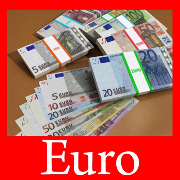 यूरोपीय पेपर मनी कलेक्शन 3d मॉडल 3ds max obj 129477