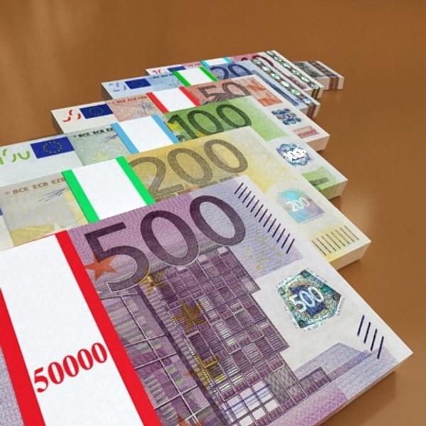 european paper money collection 3d model 3ds max obj 129488