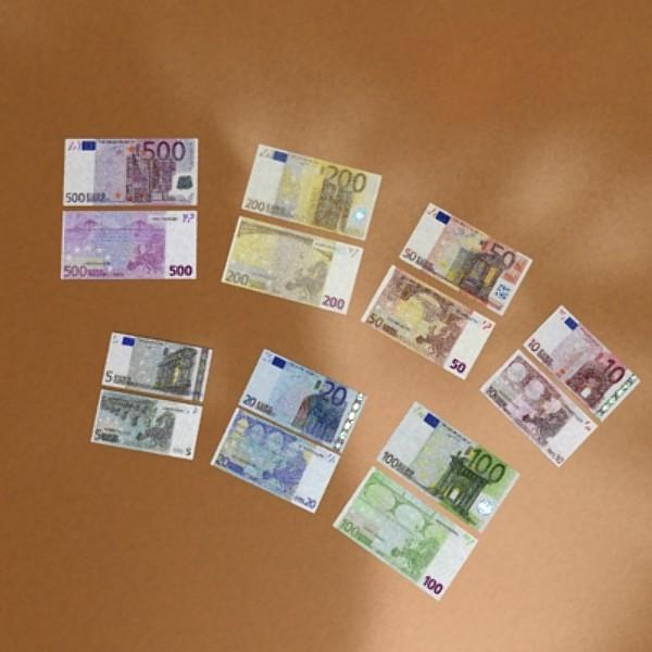 european paper money collection 3d model 3ds max obj 129491