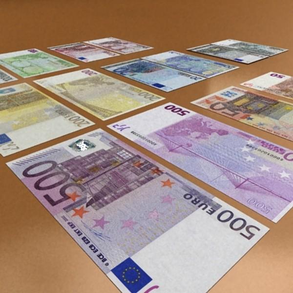 european paper money collection 3d model 3ds max obj 129493