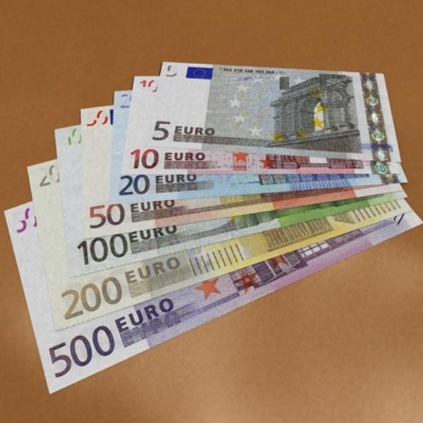 european paper money collection 3d model 3ds max obj 129494