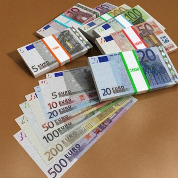 european paper money collection 3d model 3ds max obj 129495