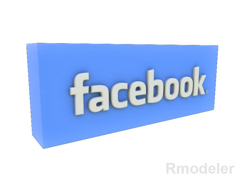 facebook 3d logo 3d model fbx dae ma mb obj 118765