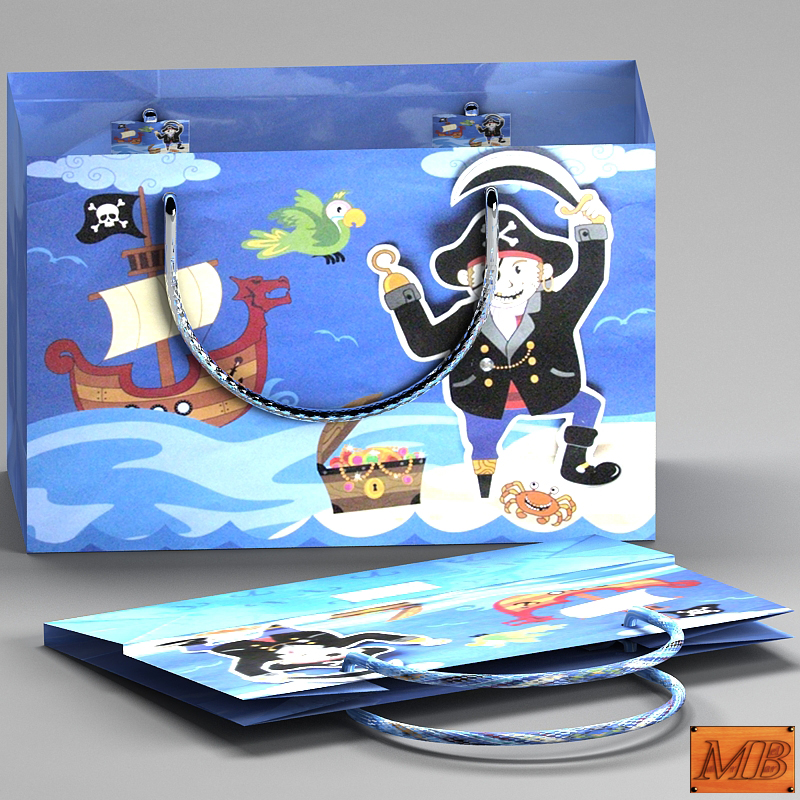 gift bag 3d model max 148224