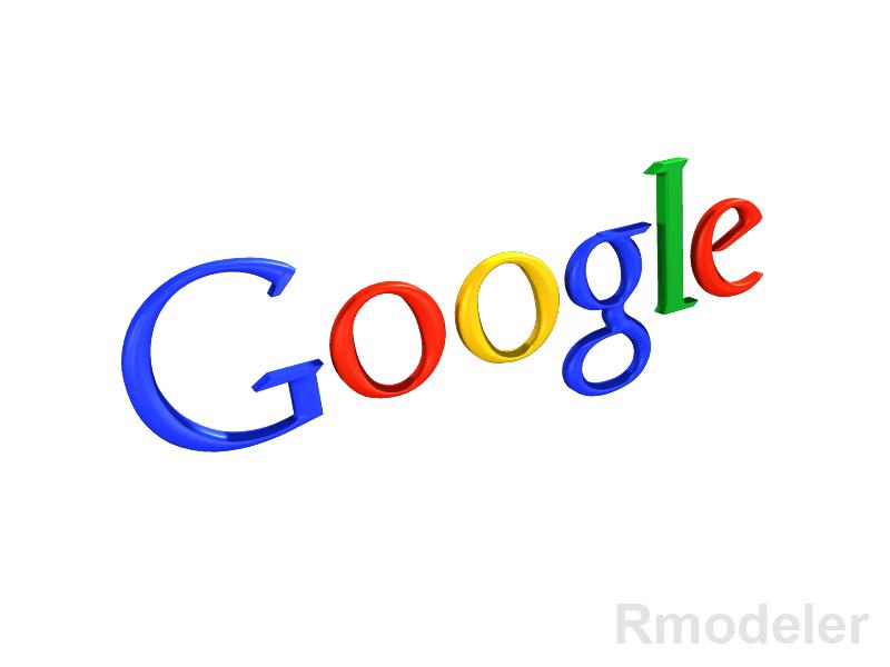 google 3d logo 3d model dae ma mb obj 118777