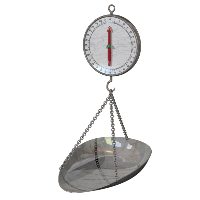 hanging scale 3d model obj 152202