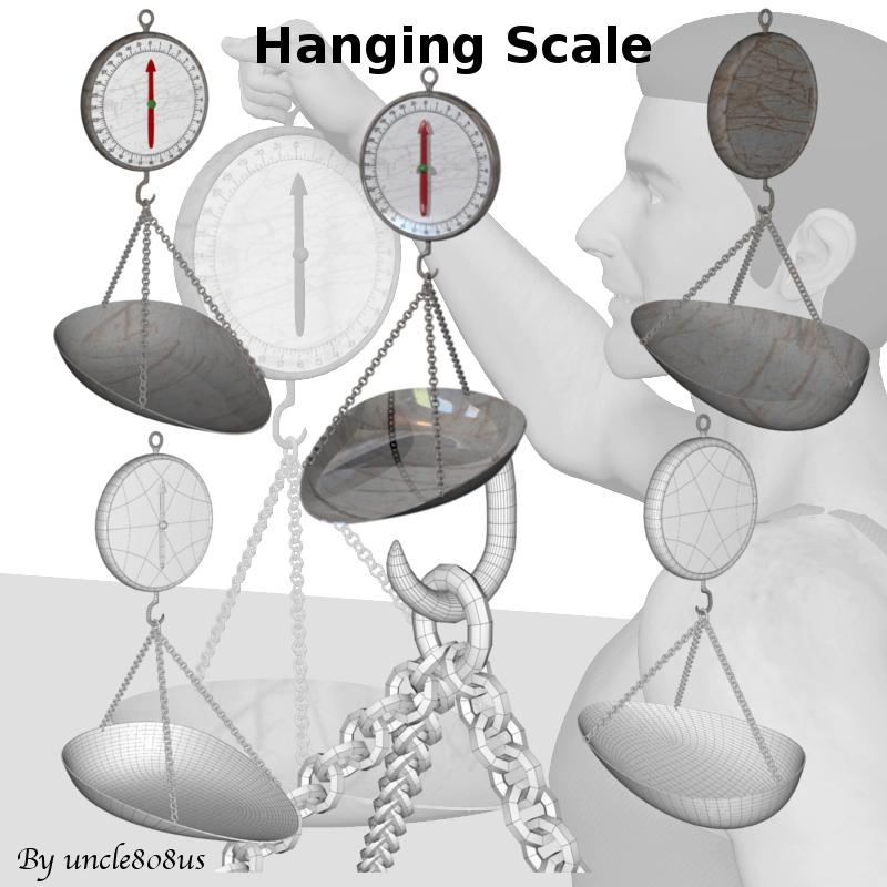 hanging scale 3d model obj 152203