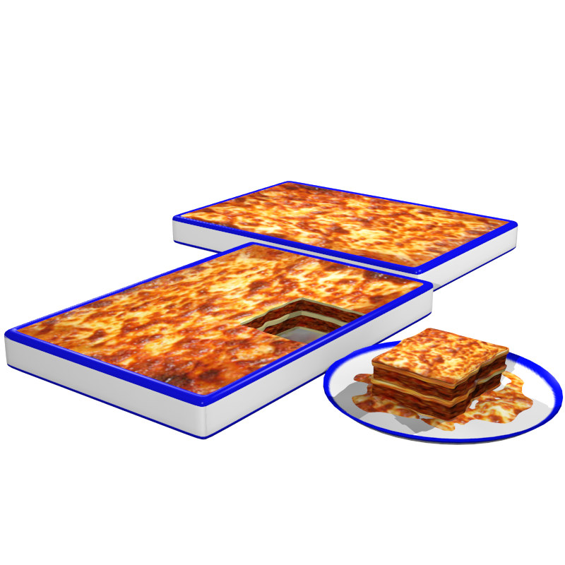 lasagna 3d model obj 147789