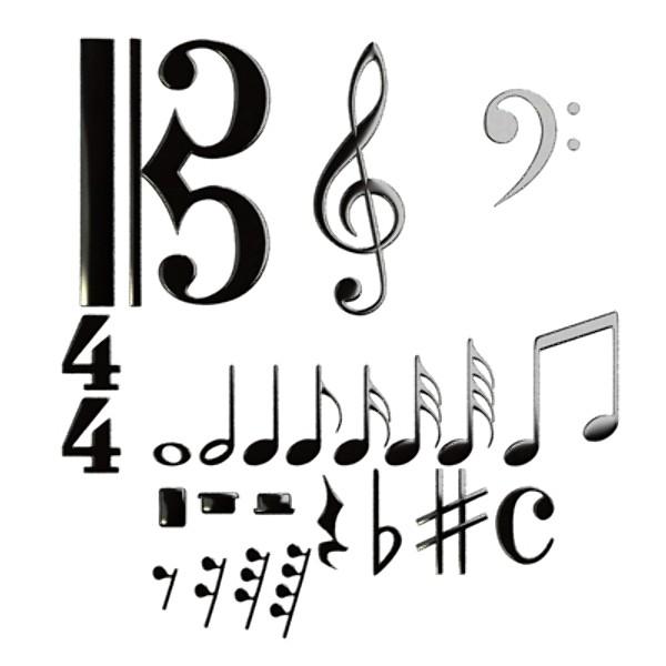 musical symbols 3d model 3ds max fbx obj 129909
